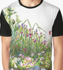 Summer flowers and grass Graphic T-Shirt