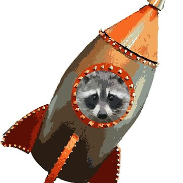 Racoon in a Rocket by RockyBadlands