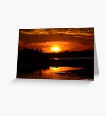 Sunset Karate Kid Greeting Card