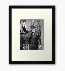 Winston, Churchill, British prime minister, V sign, Victory, 1943, WWII. Framed Print