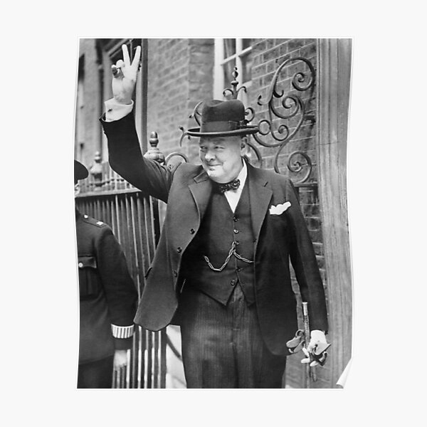 Winston Churchill V for Victory WWII Canvas Modern Art ~ 5 Size to Choose