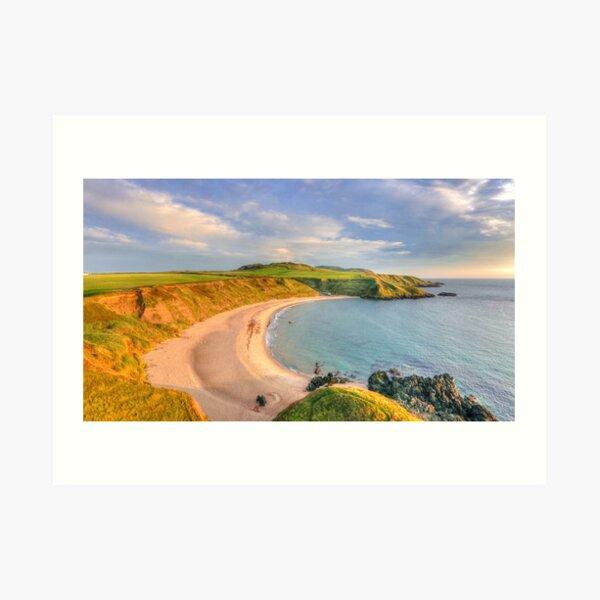 Porthor Bay at Sun down Art Print