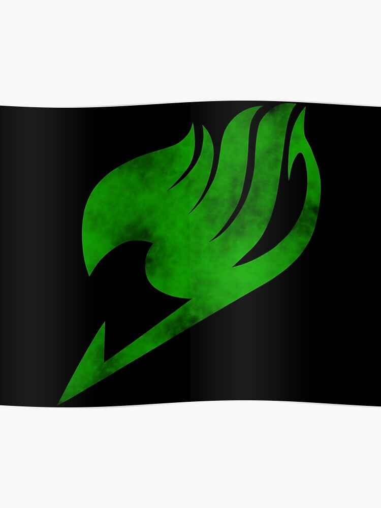 Fairy Tail Green Logo Poster
