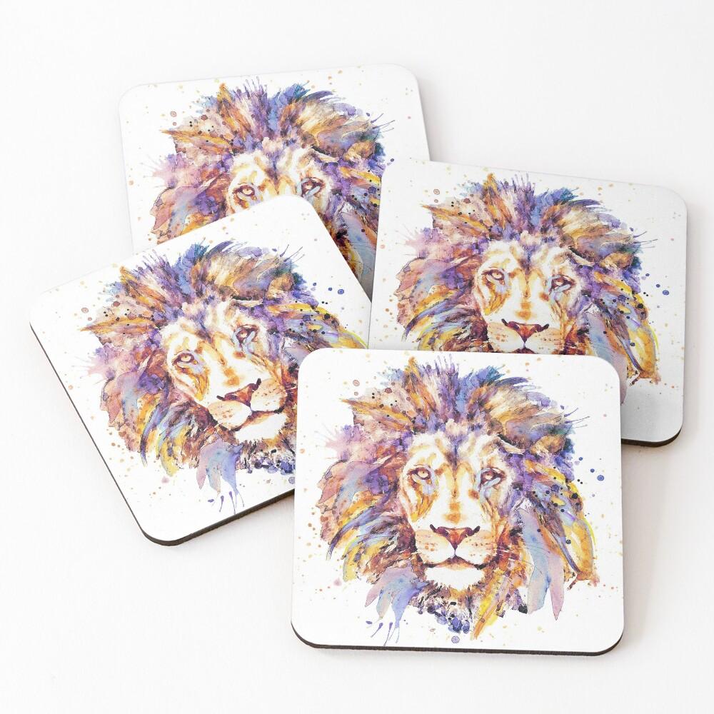 Lion Head Coasters (Set of 4)