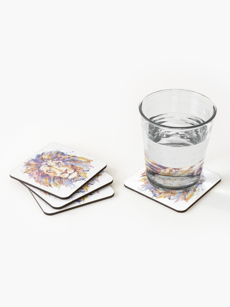 Alternate view of Lion Head Coasters (Set of 4)