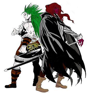 Vancha and Gannen Manga Colouring by durzarina