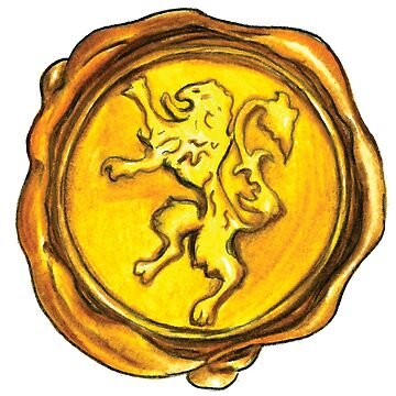 Wax Seal Gold Lion by nicpfeiff