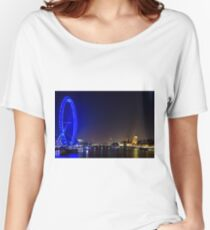 London Eye and the Houses of Parliament, England Women's Relaxed Fit T-Shirt
