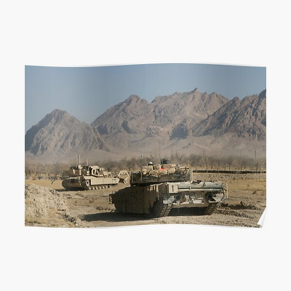Marines conduct combat operations in Now Zad, Afghanistan, during Operation Cobra's Anger. Poster