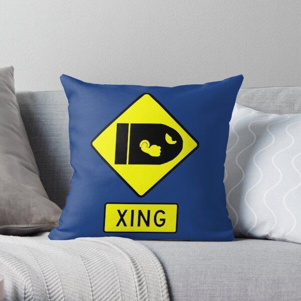 CAUTION - BULLET BILLS Throw Pillow