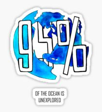 The Ocean is Unexplored Sticker