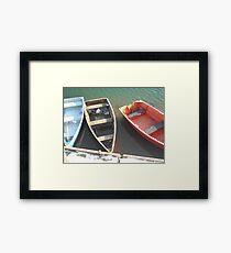 Tri Color Framed Print