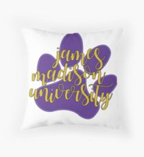 james madison university (jmu) Throw Pillow