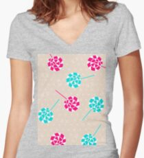 Lollipop obsession Women's Fitted V-Neck T-Shirt