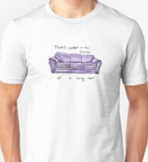 There's comfort in the silence of a living Room. Swimming pool T-Shirt