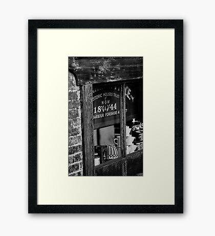 Rocks Shop. Framed Print