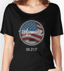 USA Wyoming Solar Eclipse 2017 Women's Relaxed Fit T-Shirt
