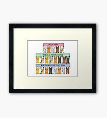 July 23rd Birthday Cats. Framed Print