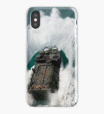U.S. Marines drive an assault amphibious vehicle in the Pacific Ocean. iPhone Case/Skin