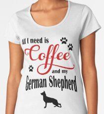 Coffee and my German Shepherd Women's Premium T-Shirt