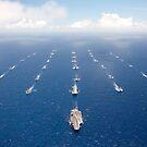 """Schiffe und U-Boote, die am """"Rim of the Pacific"""" teilnehmen. von StocktrekImages"""
