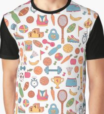 Sport doodle pattern Graphic T-Shirt