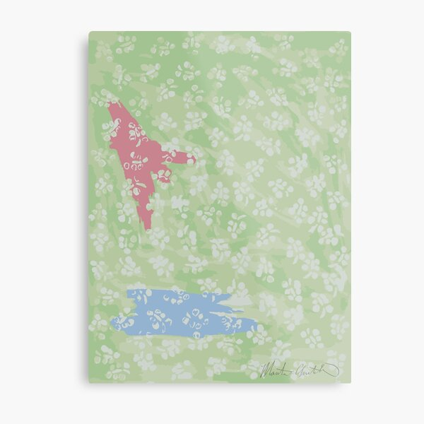 Pastel Floral Abstraction Metal Print