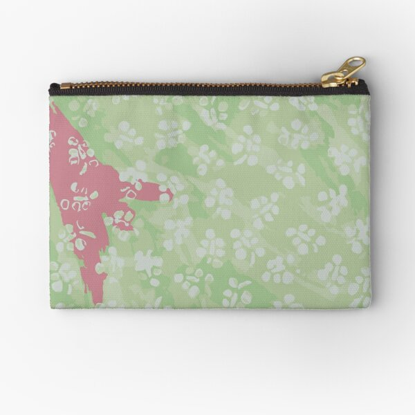 Pastel Floral Abstraction Zipper Pouch
