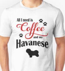 Coffee and my Havanese Unisex T-Shirt