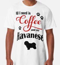 Camiseta larga Café y mi Bichón Habanero