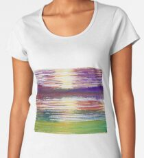 Abstract Landscape Women's Premium T-Shirt