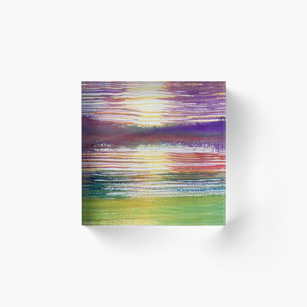 Abstract Landscape Acrylic Block