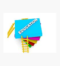 education concept, text on colorful books Photographic Print