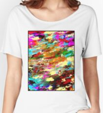 MODERN ABSTRACT : Psychedelic Print Women's Relaxed Fit T-Shirt