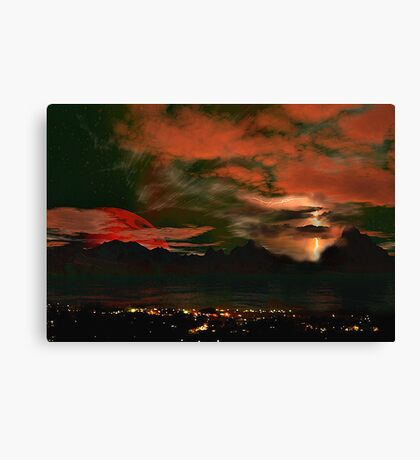 Storm over Wollongong. Canvas Print