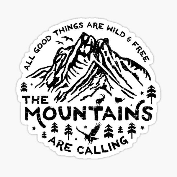 Las montañas están llamando Pegatina