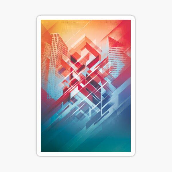 Future Cityscape Sticker
