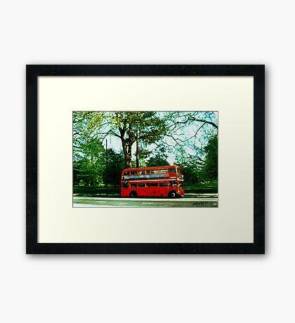 Red Bus Framed Print