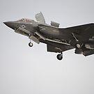 Ein F-35B Lightning II Joint Strike Fighter bereitet sich auf eine vertikale Landung vor. von StocktrekImages