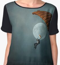 Skydiver's Moon Women's Chiffon Top