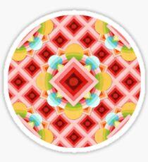 Chinoiserie Circus Geometric Sticker