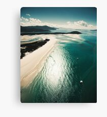 aerial view of the whitsunday island Canvas Print