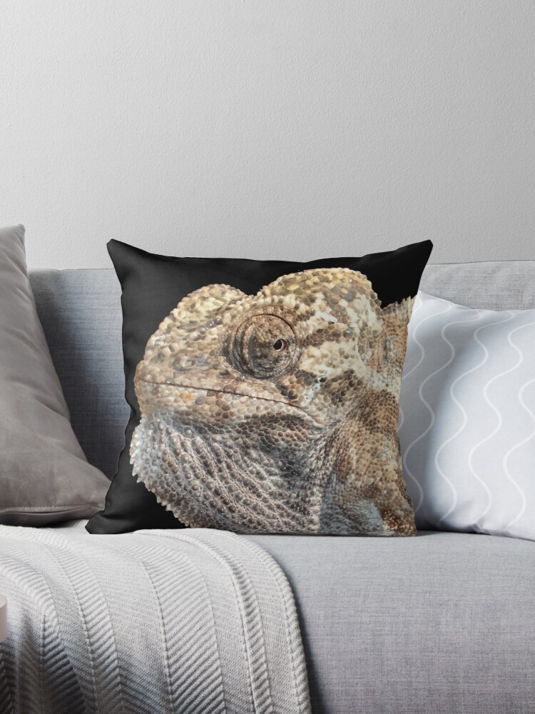 quotchameleon with geeky sinister facial expression quot throw