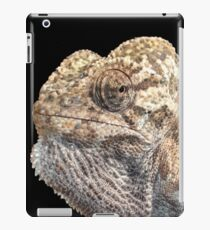 Chameleon With Geeky Sinister Facial Expression  iPad Case/Skin