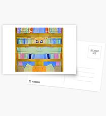 Abstract Bookcase Postcards