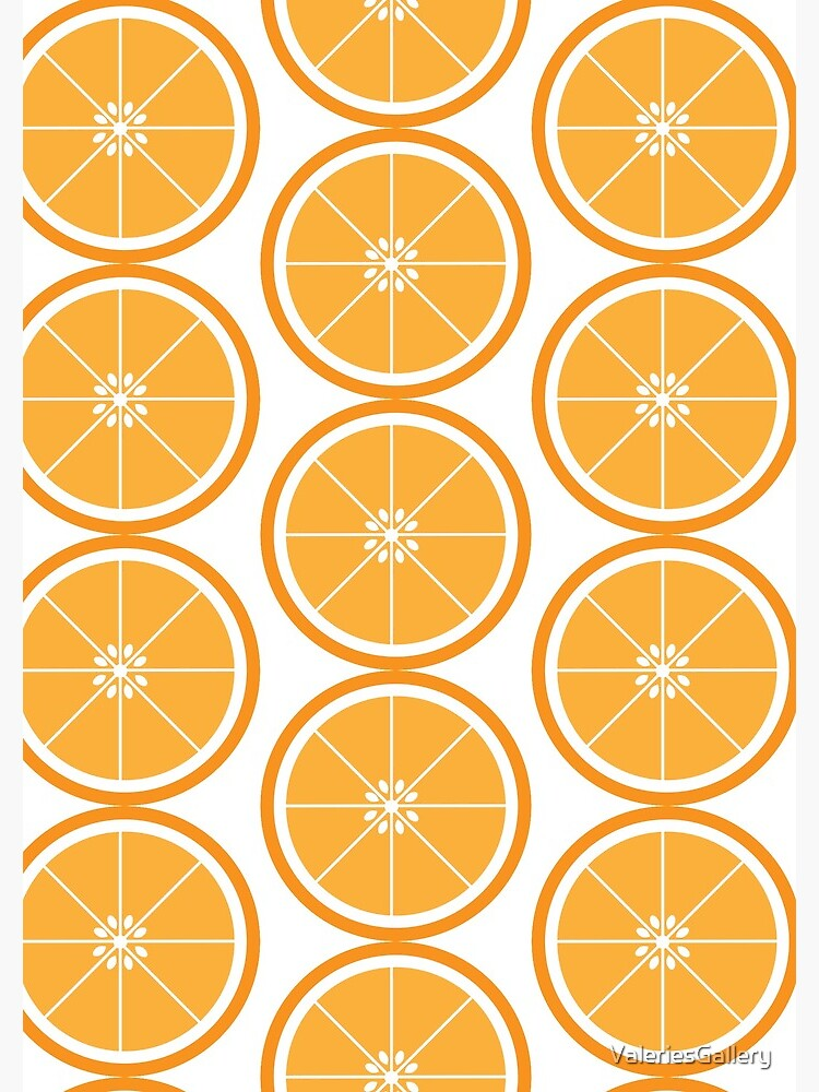 Orange Slice Fruit White by ValeriesGallery