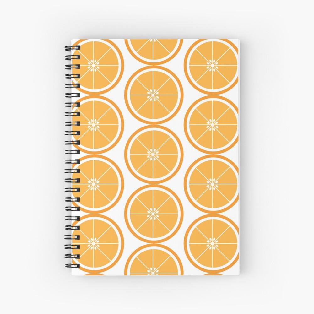 Orange Slice Fruit White Spiral Notebook