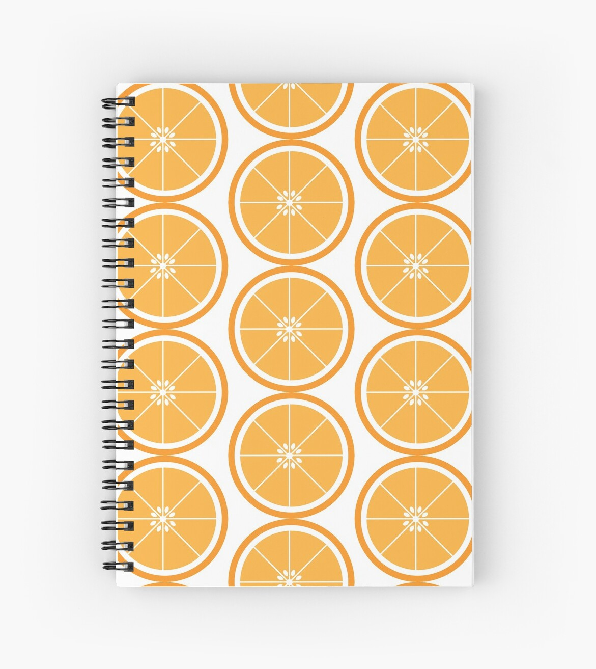 Orange Slice Fruit White by ValeriesGallery