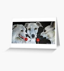 White Dogs and Tootsie Pops Greeting Card