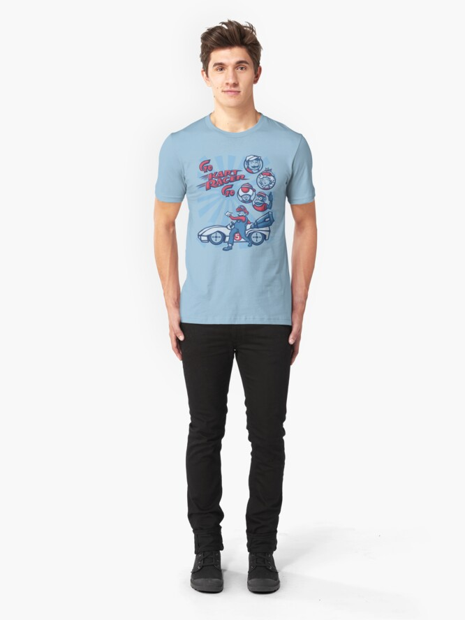 Alternate view of Go Kart Racer, Go Slim Fit T-Shirt